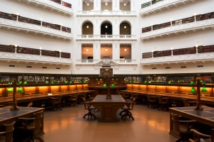 A reading room in the Victoria State Library