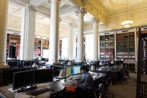 salle des colonnes, bibliotheque