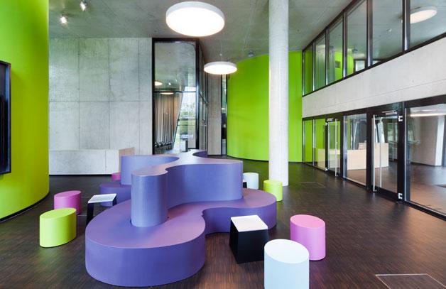 Oase fachbibliothek universit t d sseldorf allemagne for Arquitectura de interiores universidades